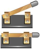 interruttore oggetto circuito elettronico isolato su sfondo bianco