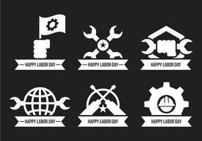 Icone di vettore di festa del lavoro