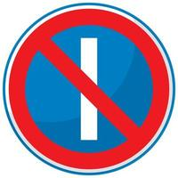 parcheggio vietato nei giorni dispari segno isolato su sfondo bianco