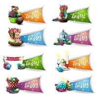 raccolta di simboli colorati auguri di Pasqua