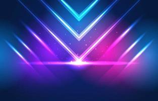 incandescente sfondo futuristico al neon vettore