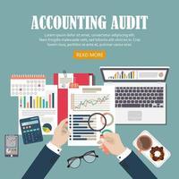 background di revisione contabile vettore
