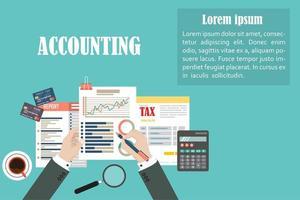 background aziendale di contabilità vettore