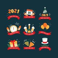icona di festività del nuovo anno 2021