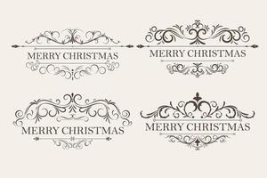 cornice e set di ornamenti di design vettore