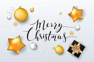 sfondo Natale con ornamenti vettore