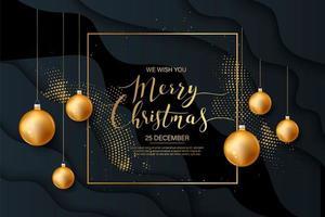 sfondo di Natale con brillante punto d'oro vettore