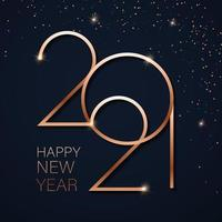 oro felice anno nuovo 2021 vettore