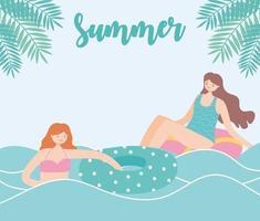 vacanze estive con ragazze in spiaggia