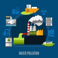 concetto di inquinamento delle acque vettore