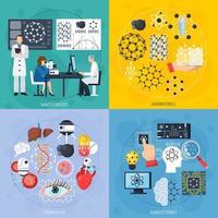 concetto di design di nanotecnologie vettore
