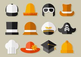 Vettore gratuito della collezione di cappelli