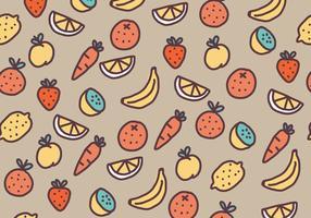 Pattern di frutta e verdura vettore