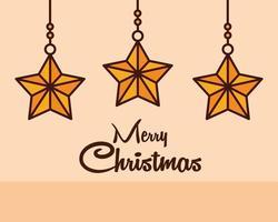 linea di composizione natalizia con stelle