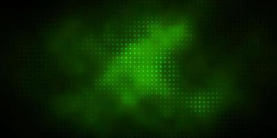 layout verde scuro con forme circolari.