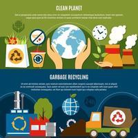 raccolta di banner modello pianeta pulito vettore