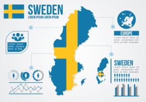 Svezia Mappa infografica vettore