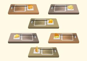 Raccolta vettoriale di trappola per topi
