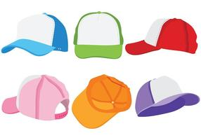 Icone di vettore del cappello del camionista