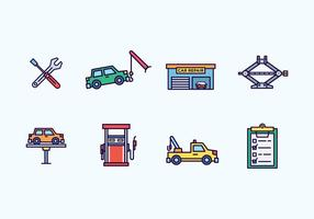 Icone di riparazione auto vettore