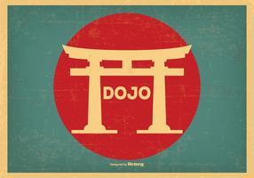 Illustrazione di Dojo stile retrò vettore