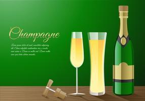 vettore di spumante champagne