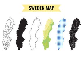 Vettore della mappa della Svezia