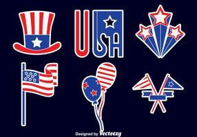 Vettori di elementi di grande festa dell'indipendenza