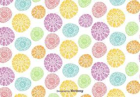Modello di fiori colorati vettoriale