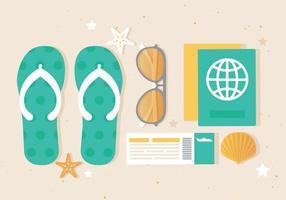 Elementi di estate di vettore di design piatto gratuito