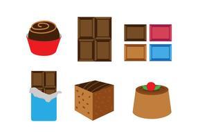 Set vettoriale di cioccolato