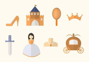 vettori di principessa piatta