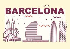 Skyline della città di Barcellona