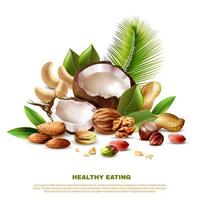 banner modello realistico di mangiare sano