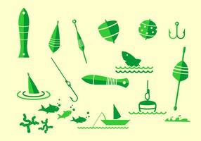 Icona di attrezzatura da pesca vettore