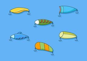 Vettori di attrezzatura da pesca eccezionali