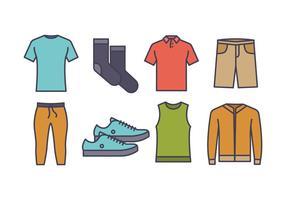 pacchetto di icone di moda maschile vettore