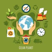 tabella rotonda di rimozione dei rifiuti vettore