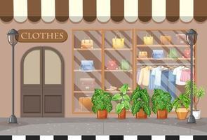 sfondo del negozio di vestiti di moda vettore