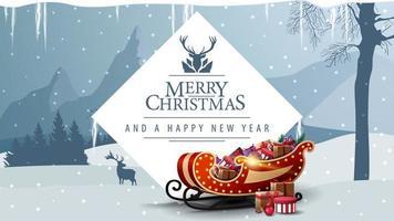 buon natale e felice anno nuovo cartolina vettore