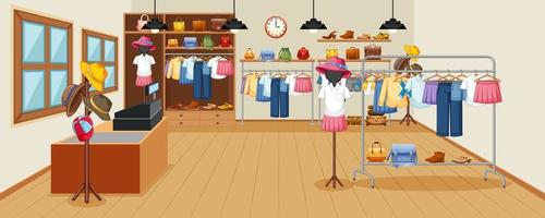 sfondo del negozio di vestiti di moda