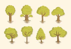 vettori di alberi piatti