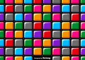 Modello senza cuciture di vettore Pixel Art Colorful Blocks