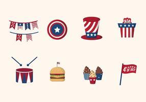 Piatti Stati Uniti Independence Day Vettori