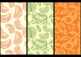 Clementine Pattern di sfondo