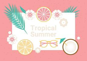 Illustrazione di vettore di estate tropicale gratis