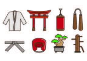 Set di icone di Dojo vettore