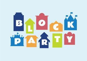 Illustrazione vettoriale di blocco partito