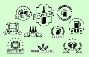 Vettore gratuito di badge birra