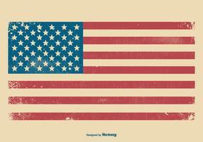 Priorità bassa americana della bandierina di Grunge vettore